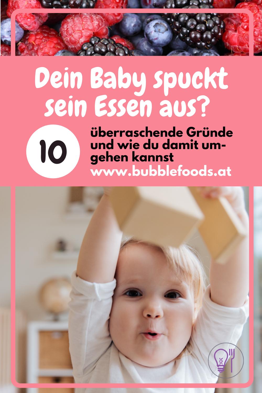 Pinterest Pin Baby spuckt Essen aus