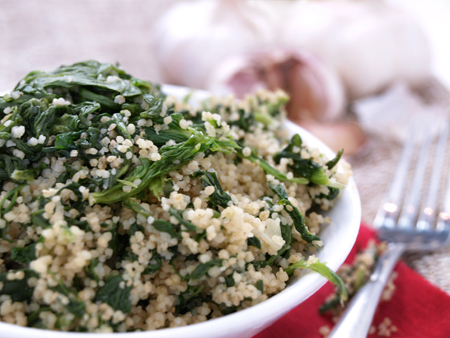 Couscous-Spinat-Salat