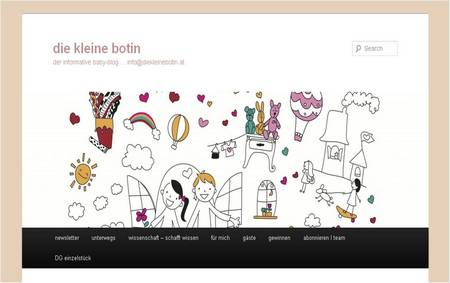 Screenshot www.diekleinebotin.at