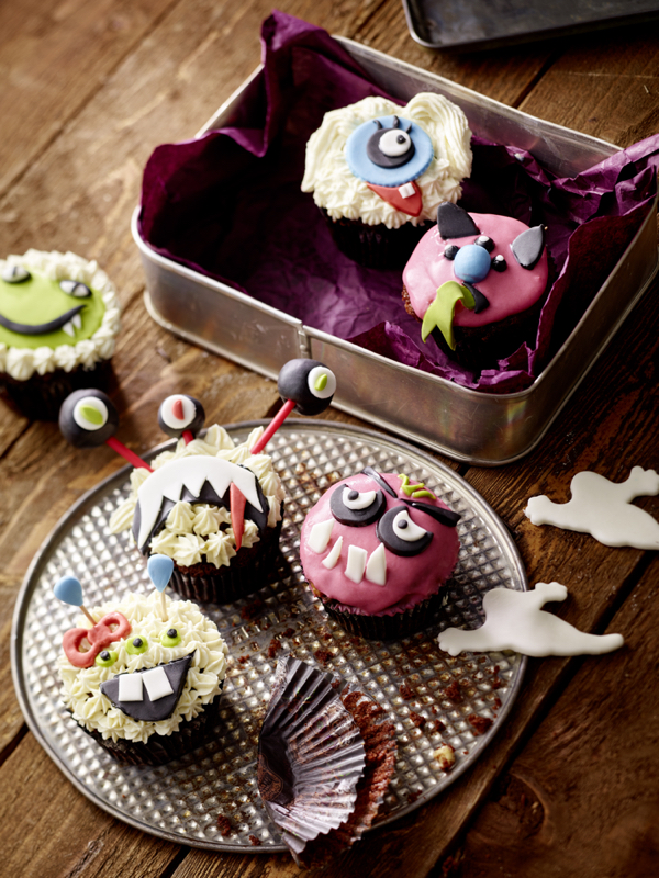 Food Styling - Monster Cupcakes