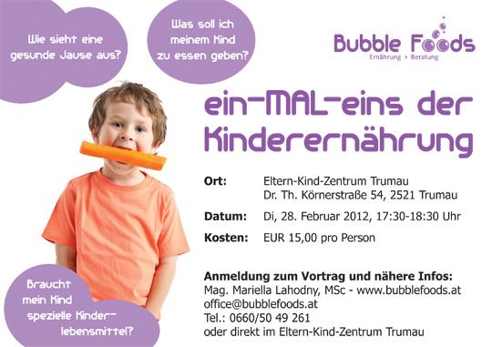 Flyer Vortrag Kinderernährung_Trumau