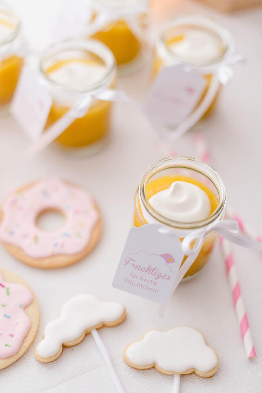 Food Styling - Fruchtmus und Kekse
