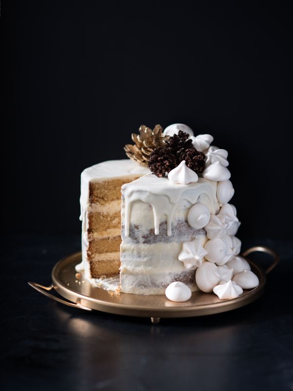 Food Styling - winter half naked cake