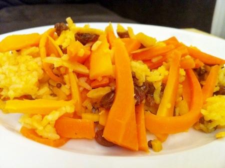 Karottenreis mit Ingwer