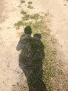 Beim Wandern mit Baby