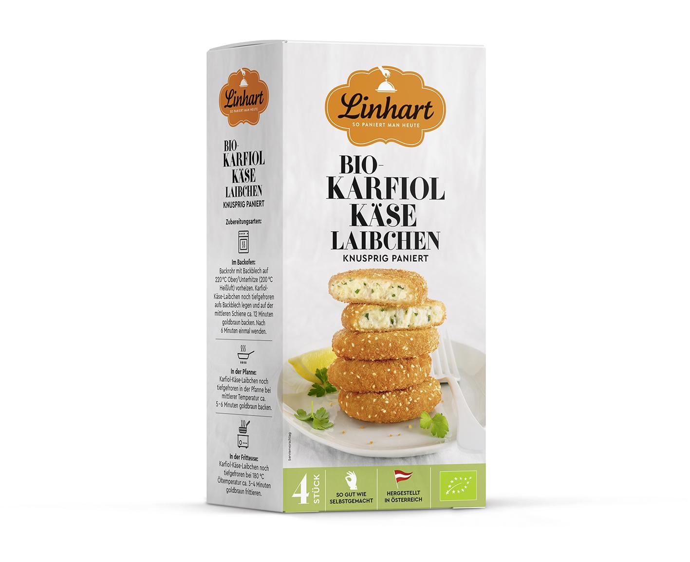 Packaging Linhart Karfiol-Käse-Laibchen