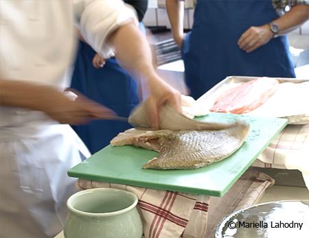 Der Sushi-Meister bei der Arbeit