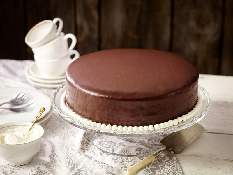 Food-styling Sachertorte
