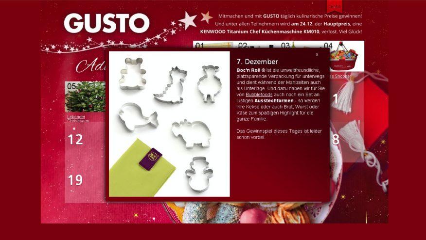 Screenshot - Gusto Adventkalender 2013