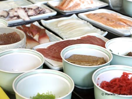 noch mehr Zutaten für Sushi