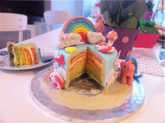 cut pony cake