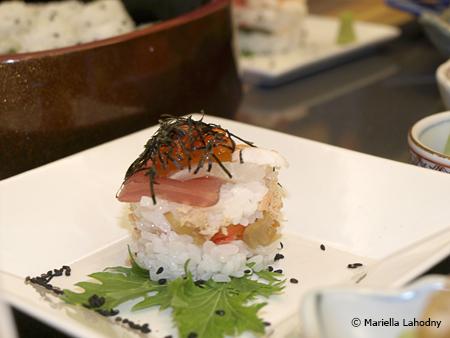 Sushi in Türmchenform