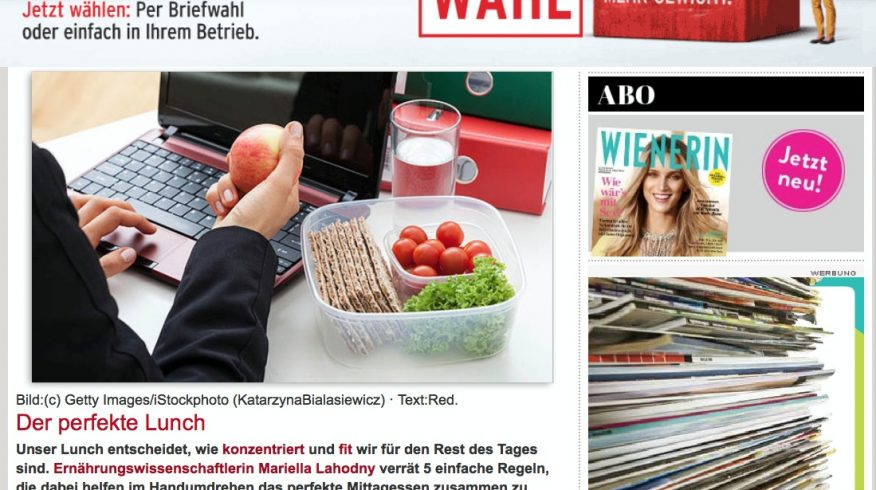 Screenshot Wienerin.at - Der perfekte Lunch - Teil 1