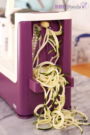 Zucchini im Spiralschneider