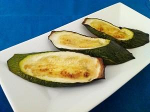 Zucchinischeiben aus dem Ofen