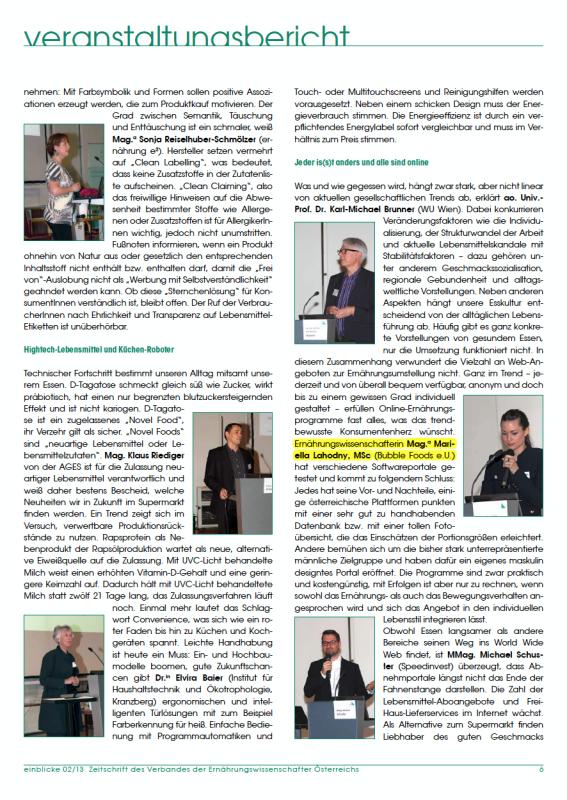 Vortrag im Rahmen der VEÖ Jahrestagung 2013