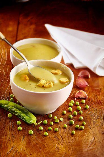 Foto Suppe und Erbsen